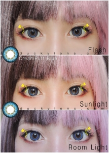 Takina review creampuff blue closeup