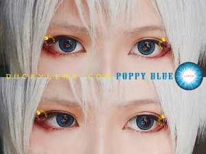 model review poppy blue close up